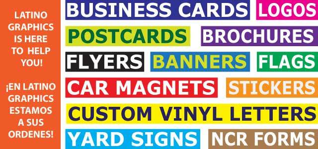 Latino graphics graphic design business cards banners flyers latino graphics graphic design business cards banners flyers car magnets stickers ncr invoices website design reheart Images
