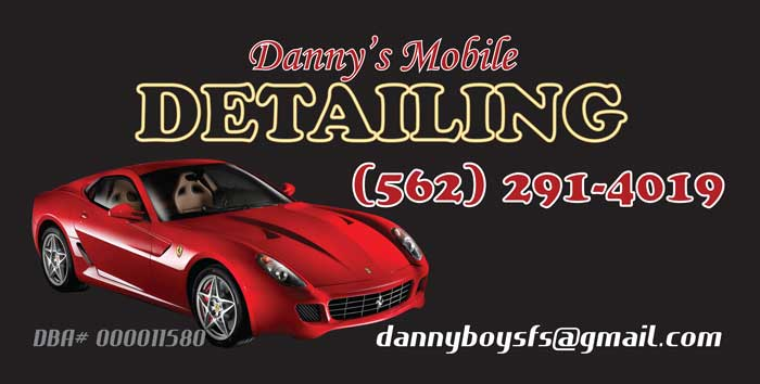 latino graphics graphic design business cards banners flyers car magnets stickers ncr invoices website design dannys mobile detailing - Car Detailing Business Cards