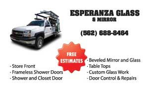 Esperanza Glass & Mirror Business Card