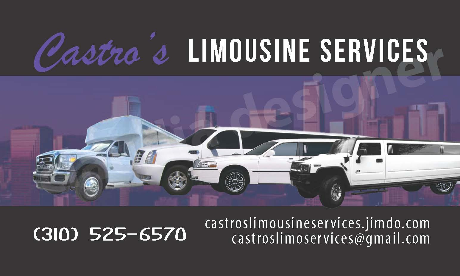 Latino graphics graphic design business cards banners flyers castros limousine services magicingreecefo Gallery